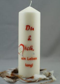 """Hochzeitskerze """"Du & ich"""""""