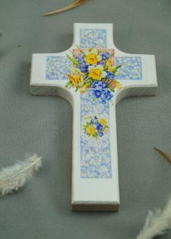 "Holzkreuz ""Blumen"""