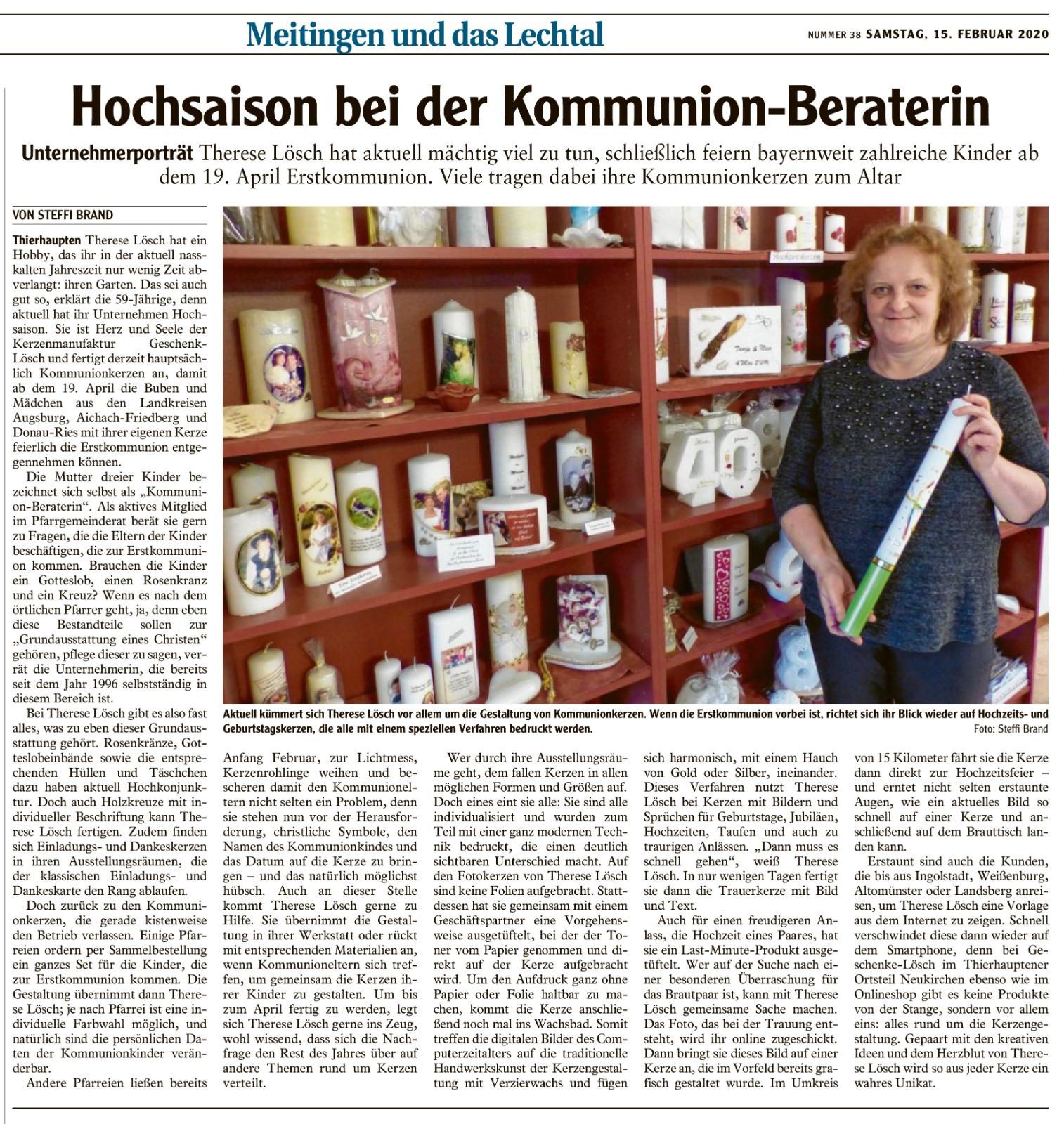Augsburger Allgemeine 15.02.2020